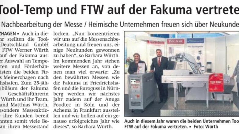 FTW auf der FAKUMA 2017